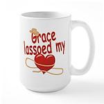Grace Lassoed My Heart Large Mug