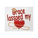 Grace Lassoed My Heart Throw Blanket