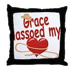 Grace Lassoed My Heart Throw Pillow