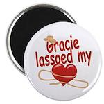 Gracie Lassoed My Heart Magnet