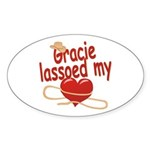 Gracie Lassoed My Heart Sticker (Oval)