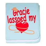 Gracie Lassoed My Heart baby blanket