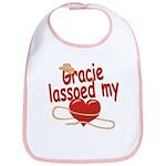 Gracie Lassoed My Heart Bib