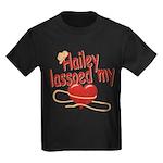 Hailey Lassoed My Heart Kids Dark T-Shirt