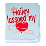 Hailey Lassoed My Heart baby blanket