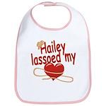 Hailey Lassoed My Heart Bib