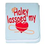 Haley Lassoed My Heart baby blanket