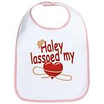 Haley Lassoed My Heart Bib