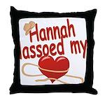 Hannah Lassoed My Heart Throw Pillow