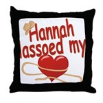 Hannah Lassoed My Heart Throw Pillow