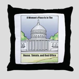 Woman's Place Throw Pillow