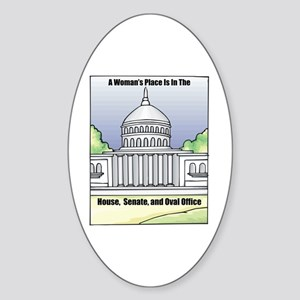 Woman's Place Oval Sticker