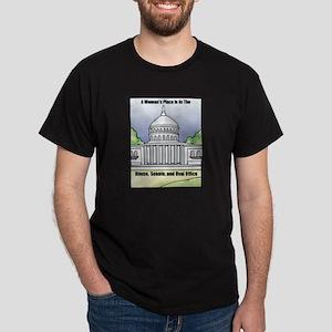 Woman's Place Black T-Shirt