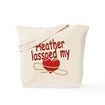 Heather Lassoed My Heart Tote Bag