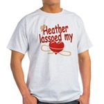 Heather Lassoed My Heart Light T-Shirt