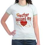 Heather Lassoed My Heart Jr. Ringer T-Shirt