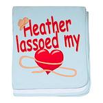 Heather Lassoed My Heart baby blanket