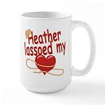 Heather Lassoed My Heart Large Mug