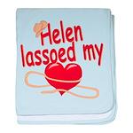 Helen Lassoed My Heart baby blanket