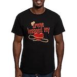 Irene Lassoed My Heart Men's Fitted T-Shirt (dark)