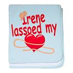 Irene Lassoed My Heart baby blanket