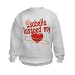 Isabella Lassoed My Heart Kids Sweatshirt