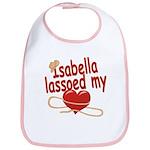 Isabella Lassoed My Heart Bib