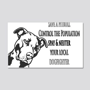 Spay Neuter DOGFIGHTERS 22x14 Wall Peel