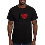 I Heart Parks Men's/Unisex Fitted T-Shirt (dark)