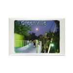 Greenville Liberty Bridge Rectangle Magnet (100 pa