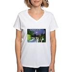Greenville Liberty Bridge Women's V-Neck T-Shirt
