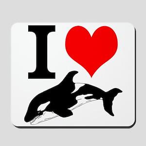 I Heart Whales Mousepad