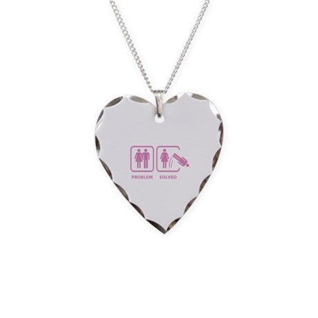 Problem Solved Necklace Heart Charm