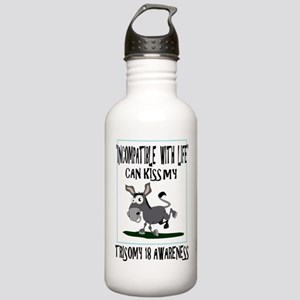 Trisomy 18 awareness 2 Stainless Water Bottle 1.0L