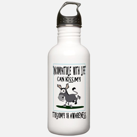 Trisomy 18 awareness 2 Water Bottle