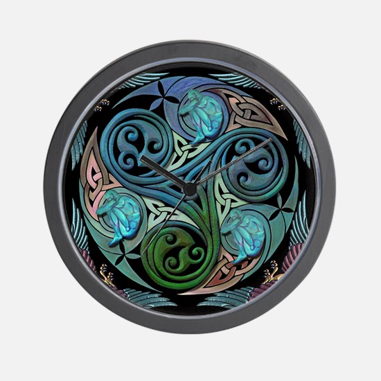 Cute Celtic spiral Wall Clock