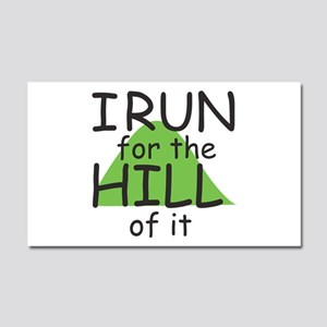 Funny Hill Running Car Magnet 20 x 12
