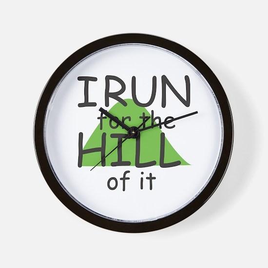 Funny Hill Running Wall Clock