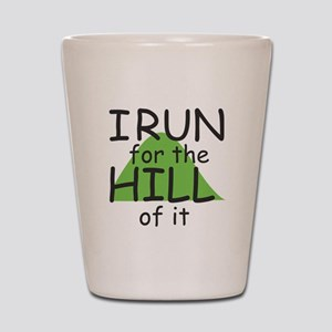 Funny Hill Running Shot Glass
