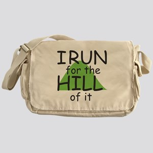 Funny Hill Running Messenger Bag