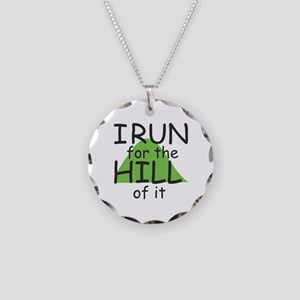 Funny Hill Running Necklace Circle Charm