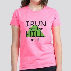 Funny Hill Running Women's Dark T-Shirt