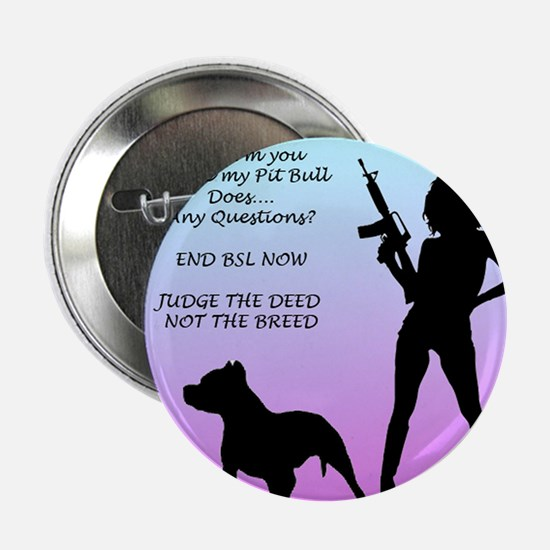 """Ill Harm YOU END BSL 2.25"""" Button"""