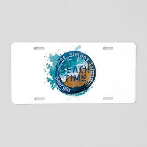 Georgia - St. Simons Island Aluminum License Plate