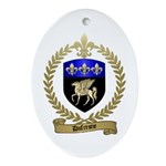 DUFRESNE Family Crest Ornament (Oval)