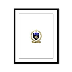DUFRESNE Family Crest Framed Panel Print