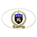 DUFRESNE Family Crest Sticker (Oval)
