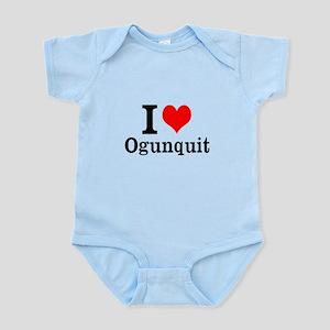 """I """"Heart"""" Ogunquit Infant Bodysuit"""