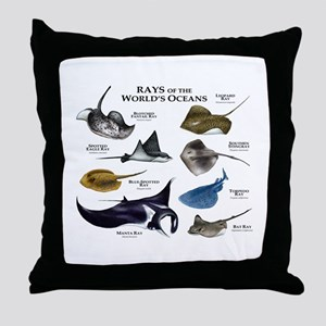 Rays of the World Throw Pillow