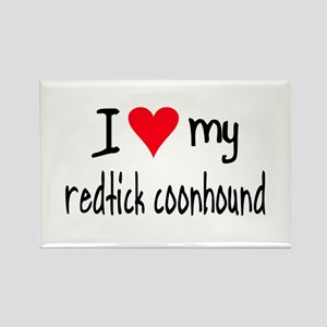 I LOVE MY Redtick Coonhound Rectangle Magnet